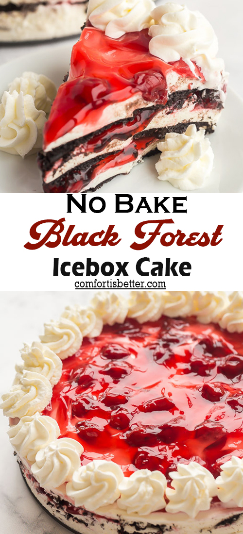 No Bake Black Forest Icebox Cake