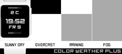 Color weather Plus watchface - Pebble 2