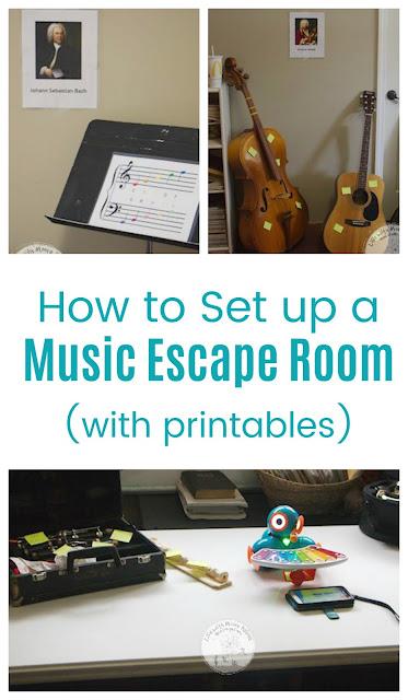 Music Escape Room Set Up