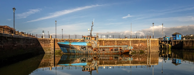 Photo of calm conditions at Maryport Marina on Tuesday