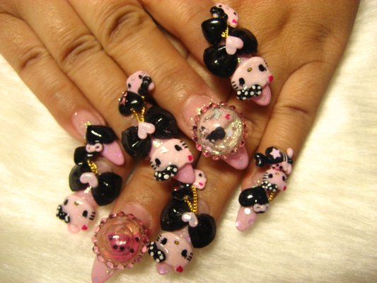 Livingatopahillofjoy 3dkawaii Nail Art The Latest In Ridiculous