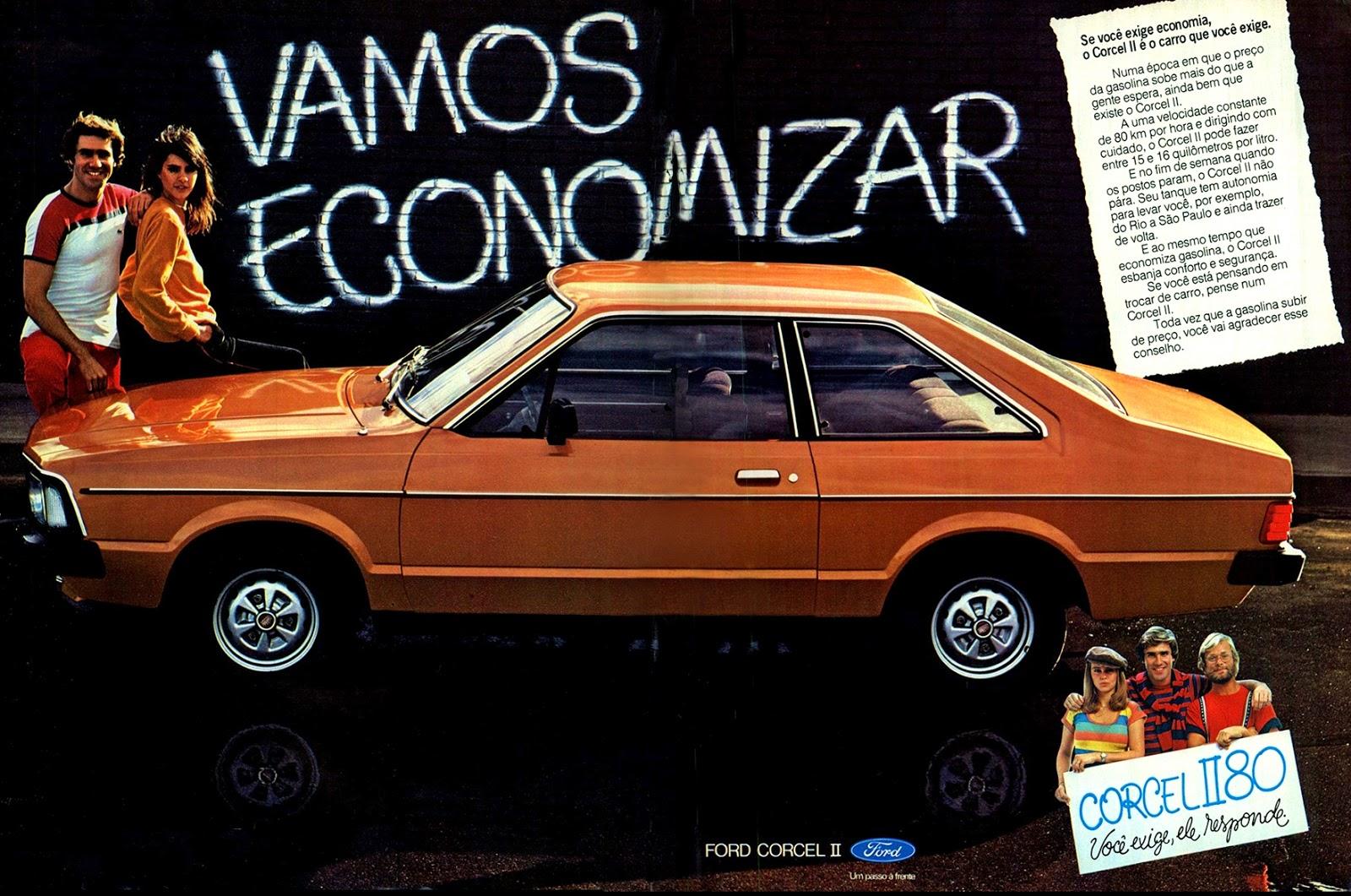 Propaganda antiga do Ford Corcel II da Ford promovida em 1979