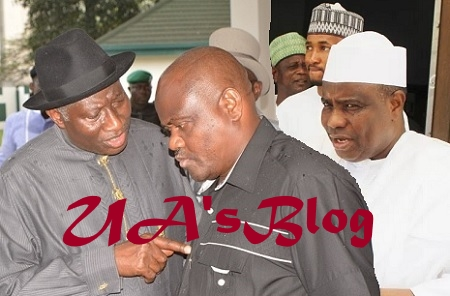 2019: Jonathan Vows To Take Own Pound of Flesh, Fights Wike Dirty Over Plot To Gift PDP Presidential To Gov. Tambuwal of APC