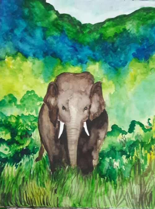 Smriti. PT, Class IX Wins at District Level Painting Competitions