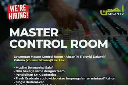 Lowongan Pekerjaan Master Control Room di Ahsan TV Penempatan di Cikarang