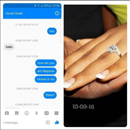 """Photos: I said """"hey"""" to him on Facebook, today we are engaged"""