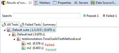 timeOut attributes at test method level