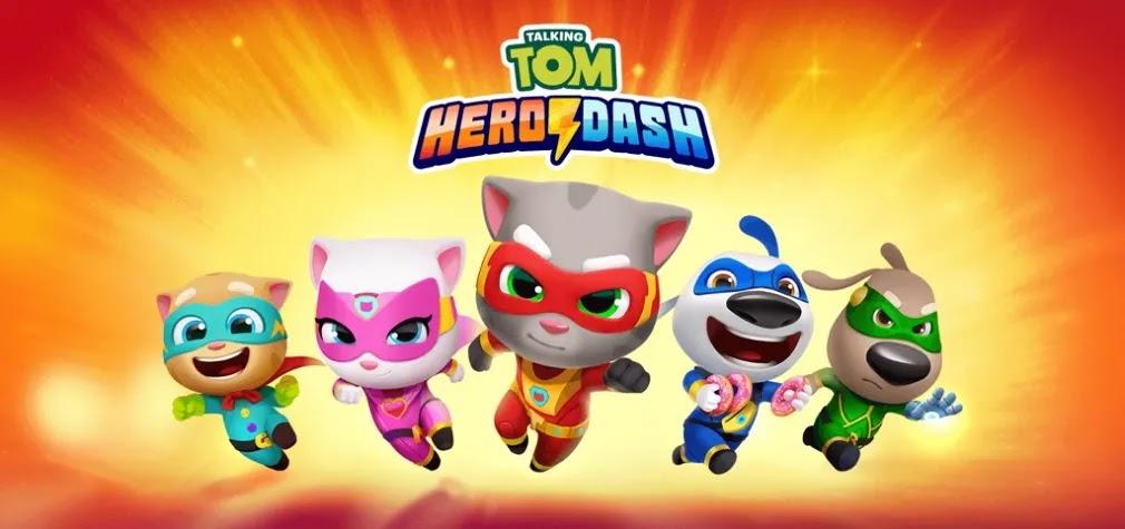 قم بتنزيل Talking Tom Hero Dash وانضم إلى Tom لمحاربة وإعادة بناء المدينة قبل تدمير حيوانات الراكون.