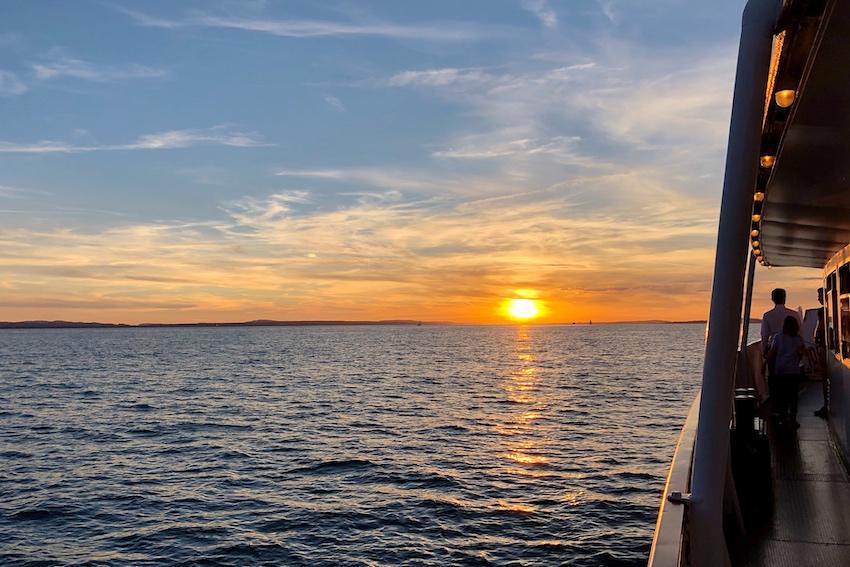 Sonnenuntergang Bregenz Schiff