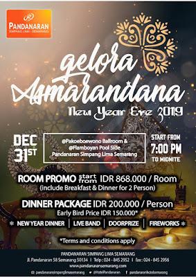 Di Hotel Pandanaran ini digelar acara untuk mengisi malam tahun baruan dengan tema yang cukup unik, yaitu Gelora Asmarandana.