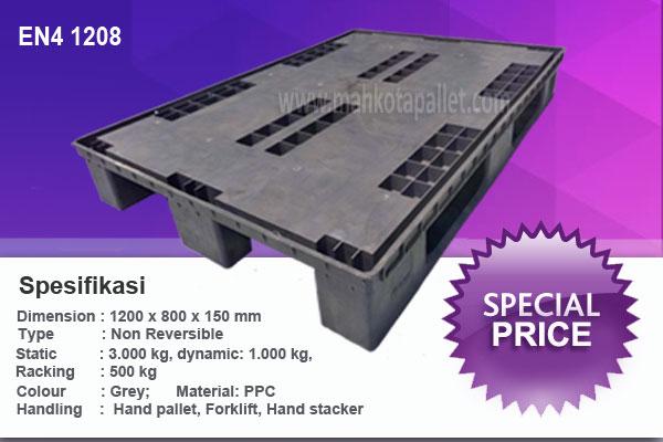 Pallet Plastik Bekas 1200 x 800x150 mm | Flat Bisa Racking
