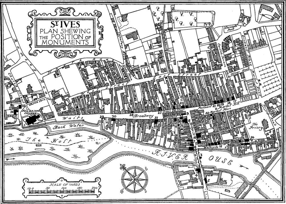Old map of St Ives, Cambridgeshire