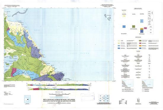 Peta Geologi Lembar Bungku Morowali Sulawesi Tengah