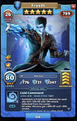 Frosth Hero Review Card
