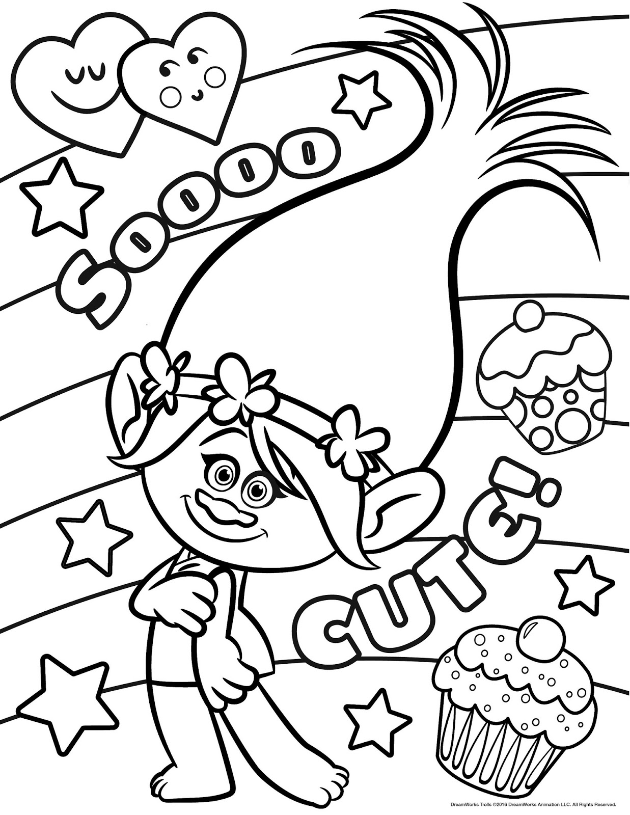 10 Newest Troll Coloring Page For Kids