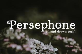 Persephone A Hand-Drawn Serif Font