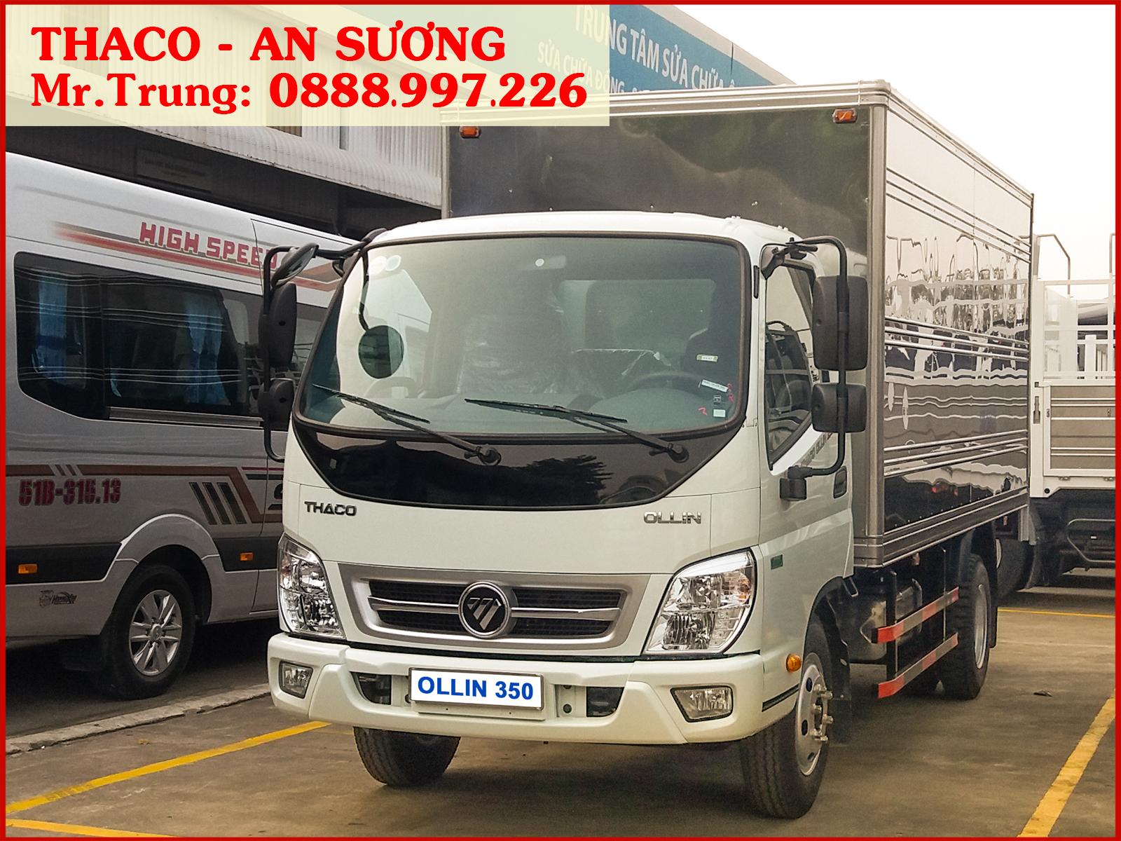 Xe tải Thaco Ollin 350 thùng kín, tải trọng 2.150 kg
