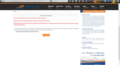 syarat dan ketentuan layanan pemesanan tiket kereta api online