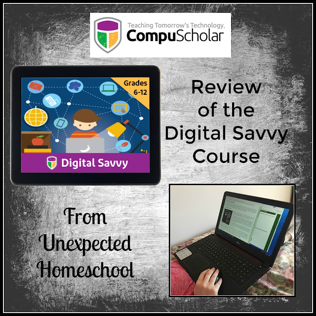 Review of CompuScholar, Inc. Digital Savvy Online Course