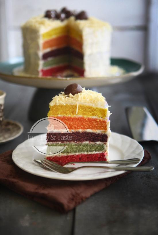 Resep Rainbow Cake JTT