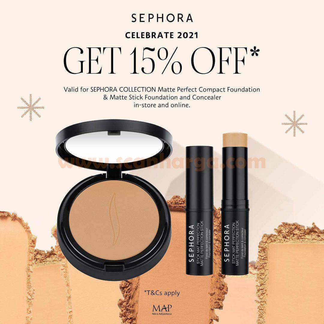 SEPHORA Celebrate 2021 - Get Discount 15% Off