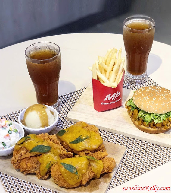 Egg-stra Padu, Salted Egg Burger, Salted Egg Ayam, Salted Egg Meals, Salted Egg, Marrybrown, Food