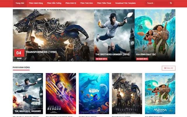 Giao diện blogpsot website phim siêu đẹp - Template Blogspot chuẩn seo 2019