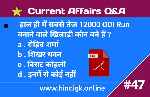 04 December Current Affairs : Daily Current Affairs in Hindi : Today Current Affairs 2020