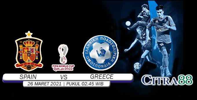 PREDIKSI SPAIN VS GREECE 26 MARET 2021