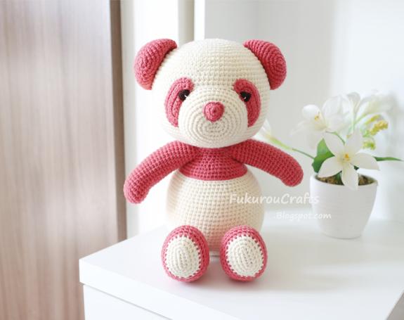 Amigurumi Panda Bear Crochet Pattern : Fukuroucrafts cute crochet pattern panda bear doll cute