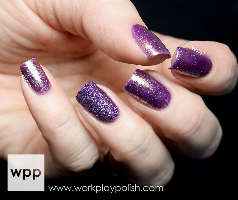 Pure Ice Royal Flush with Pure Ice Purple Glitter Pot Tips