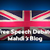 "Free Speech Debate Blogs: ""Student voices are just as important as those of politicians'"""