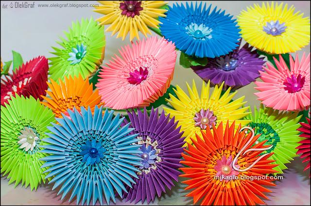 504. Kwiaty z origami / 3d origami flowers