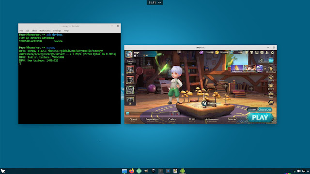 cara main chess rush di pc dengan scrcpy screen mirror