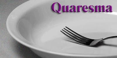 imagem de um prato vazio escrito quaresma