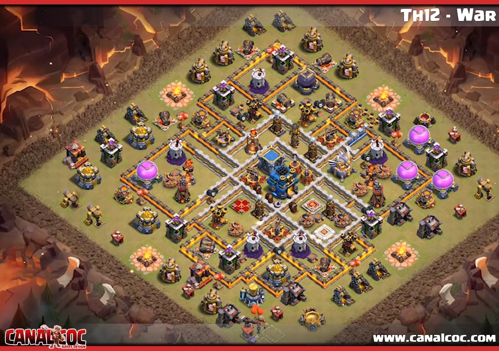 Base War Coc Th 12 Max 10