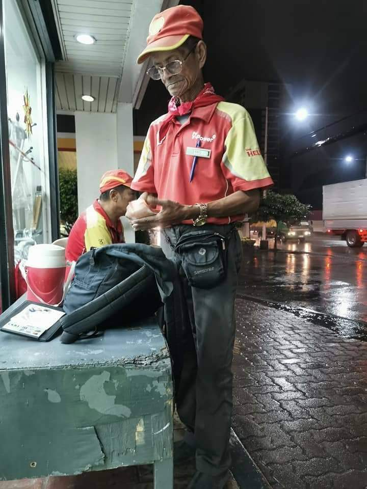 68-year-old gas boy has been working for 47 years in same station