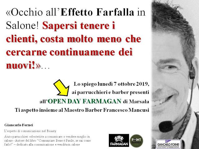 Effetto Farfalla in Salone? Giancarlo Fornei ne parlerà all'Open Day Farmagan di Marsala...