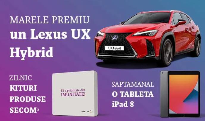 Concurs Secom 2021 - Fa o prioritate din imunitate si poti castiga o masina Lexus UX Hybrid, zilnic kituri produse Secom sau saptamanal o tableta iPad 8 - concursuri - online - premii - castiga.net