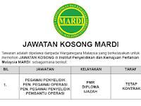 Institut Penyelidikan dan Kemajuan Pertanian Malaysia MARDI [ Permohonan Jawatan Dibuka ]