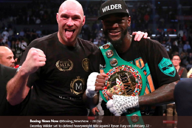 Deontay Wilder taunts Tyson Fury with the title 'She's Crazy'