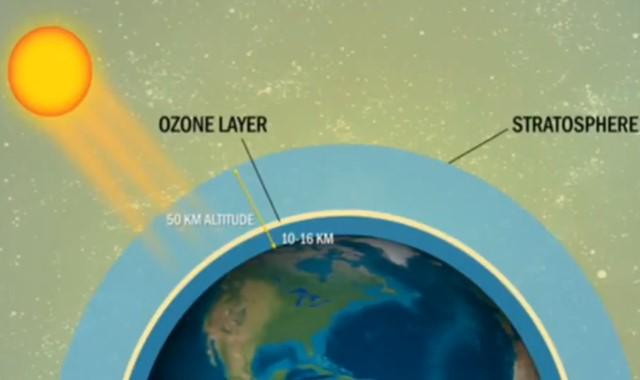 letak lapisan ozon