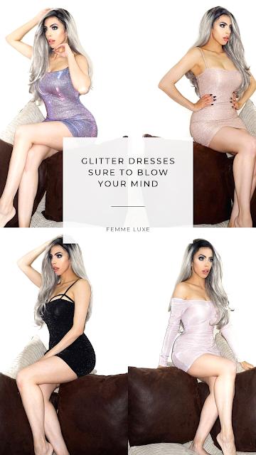 Femme Luxe glitter dresses