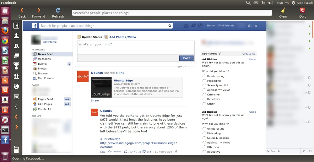 FB-Messenger and Facebook Applications for Ubuntu/Linux Mint