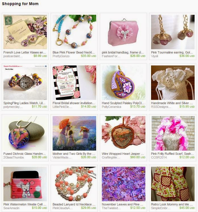 Shopping for Mom by Treasures of Jewels on Etsy