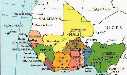 Cartina Muta Africa Occidentale