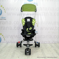 Kereta Bayi LightWeight CocoLatte CL08 iSport Big Polkadot Green