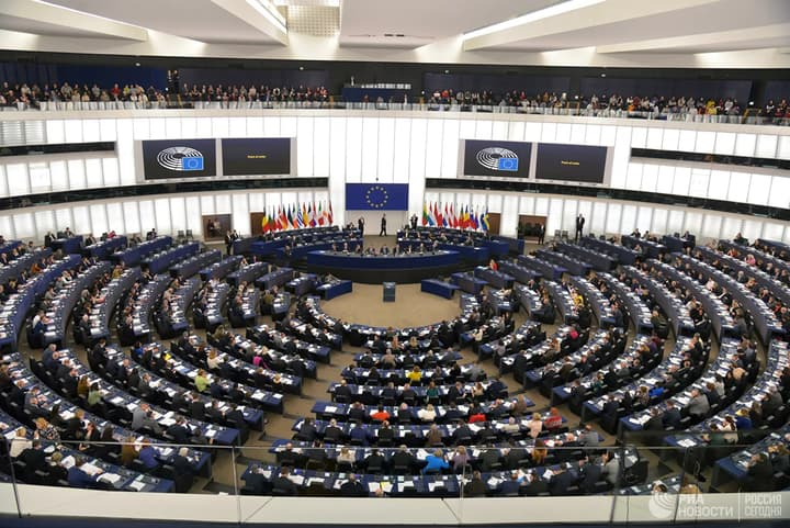 Politics: Plenary Session of the European Parliament in Strasbourg, France.