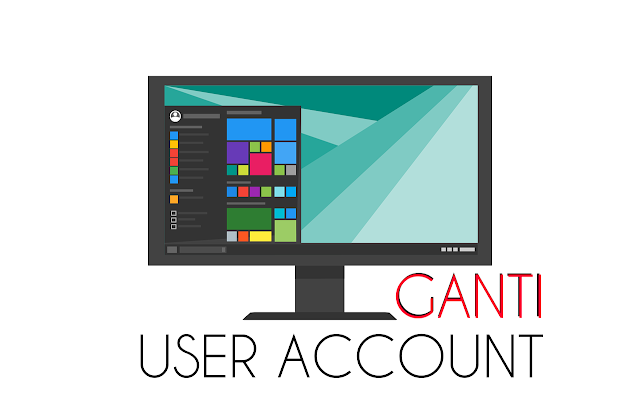 cara mengganti user acount di windows 10