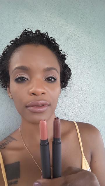 Bite Beauty Matte Creme Lip Crayons 'Amaretto' + 'Cognac' swatched www.modenmakeup.com